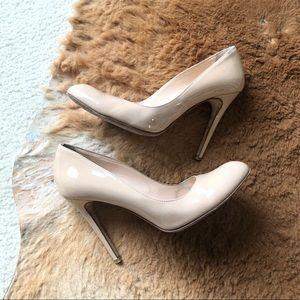 Mercanti Fiorentini Vero Cuoio Nude Leather Pumps